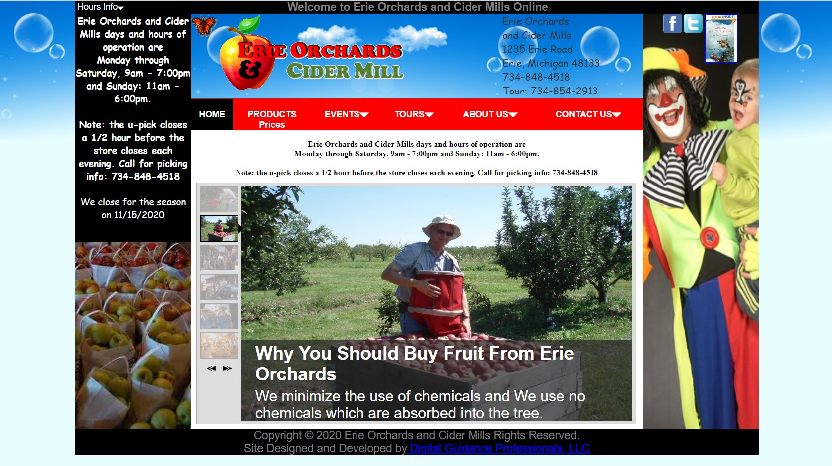 Erie Orchards Website